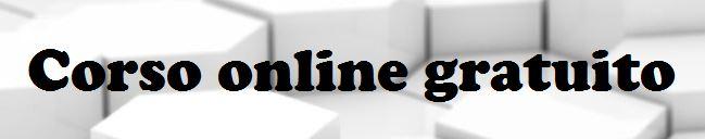 corso gratuito online