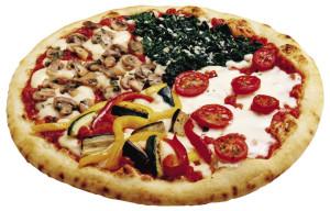 La pizza quattro stagioni
