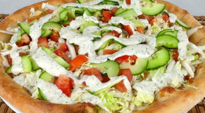 Pizza Kebab e Salsa Allo Yogurt Ricetta