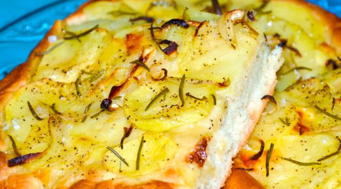 focaccia patate e pancetta