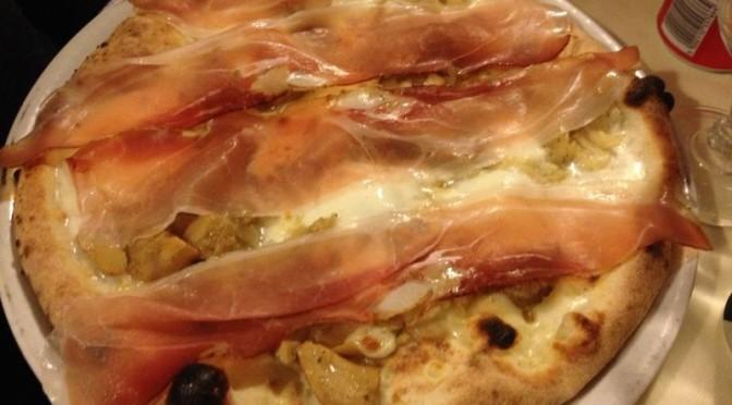 Pizza Funghi e Speck alla Montanara