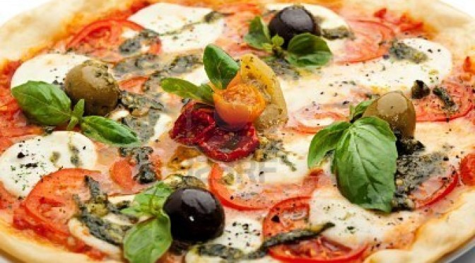 a pizza pesto