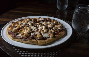 Pizza Nutella and philadelphia