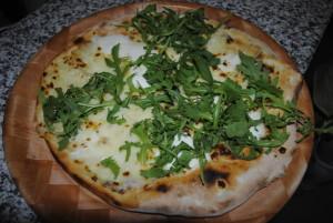 Genoese pesto pizza mozzarella stracchino