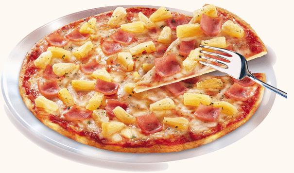 pizza ananas Pizza con ananas e prosciutto