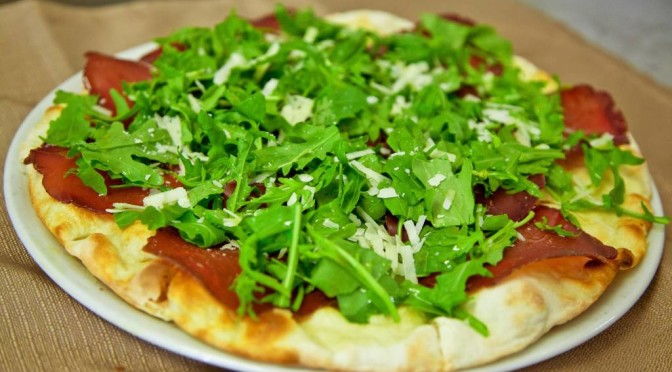 Pizza bresaola Arugula Grana Recipe