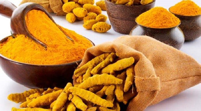 Oil flavored with turmeric