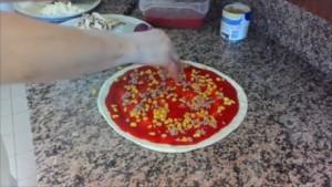 Corn and Tuna Recipe Pizza