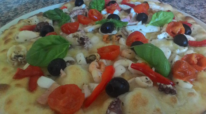 Focaccia With Seafood Salad