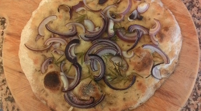 Focaccia with Onions with Dough for Cereals