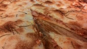 Parisian Pizza with Ricotta and mortadella