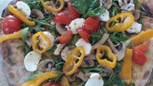 Focaccia Impasto ai Ceci con Mozzarella e Verdure