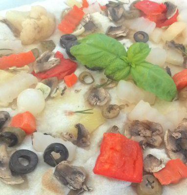 Focaccia con Verdure Ricetta Leggera