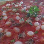 Pizza con Cipolline Alici e Maggiorana