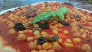 Pizza Con Mais Ceci e Olive