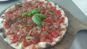 Focaccia With Fresh Tomato and Tuna