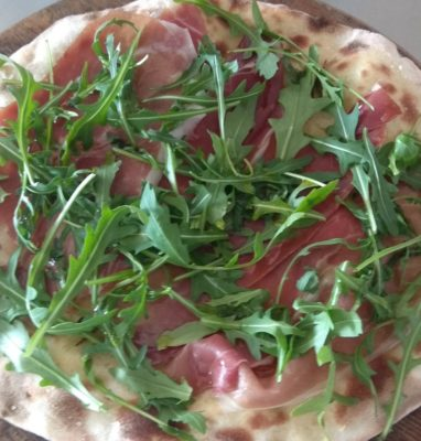 Focaccia with Parma Ham and Arugula