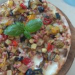 Pizza With Grilled Vegetables and Bacon
