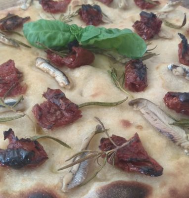 Focaccia With Dried Tomatoes and Marinated Anchovies
