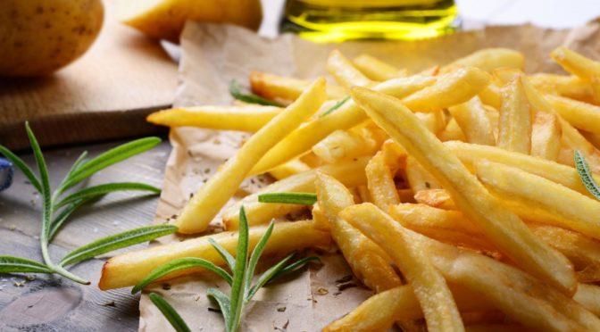 Recalentar las patatas fritas