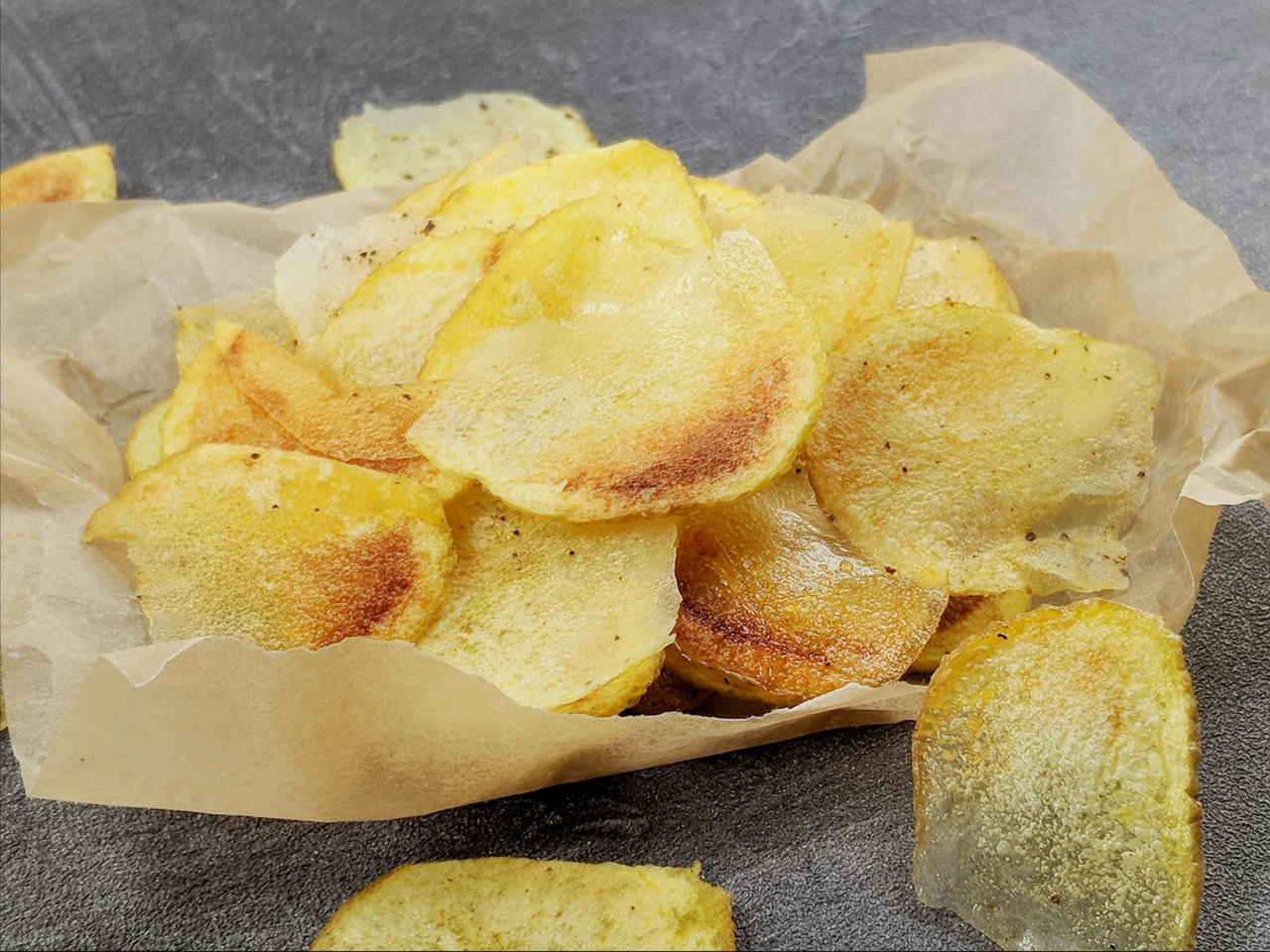 Preparare le Patate Chips al Microonde