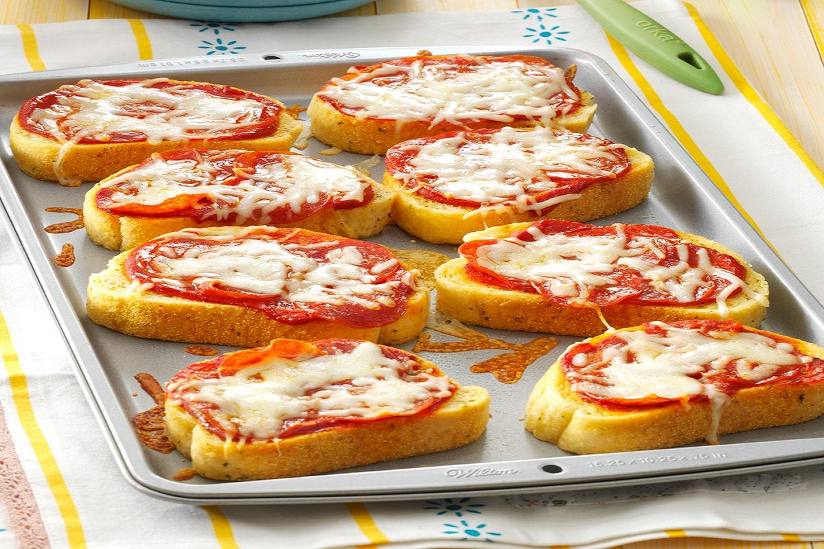 Preparation Of Pizza Crostini